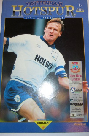 Spurs v WHU programme [Photo: Logan Holmes]