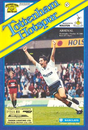 Tottenham-Arsenal-18.10.89-L