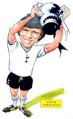 Steve Perryman - the only Tottenham player to score against Hull at White Hart Lane since mid-1930s. [Photo: www.sportcartoons.co.uk]