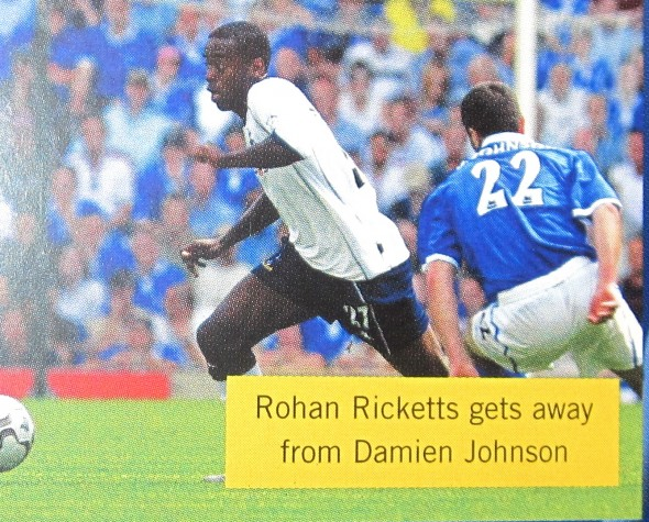 Rohan Ricketts Spurs v Birmingham August, 2003 [Photo: Logan Holmes]