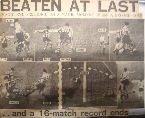 First defeat for Spurs in 1960-61 season [Photo: Logan Holmes]