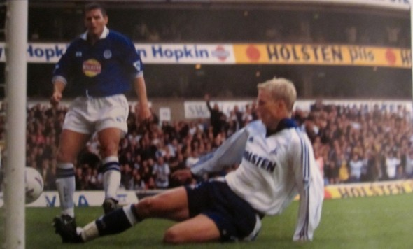 Steffen Iversen scored the opening goal against Arsenal [Photo: Logan Holmes]