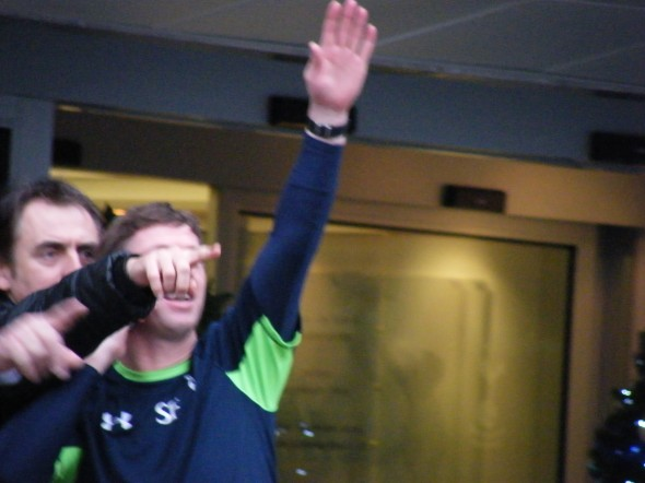 Steffen Freund waves goodbye to a difficult 2013 [Photo: Alan Hill]