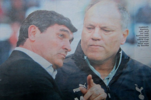Juande Ramos and Martin Jol [Photo: Logan Holmes]