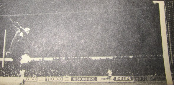 John Pratt scores against Liverpool at WHL in 1972 LC [Photo: Logan Holmes]