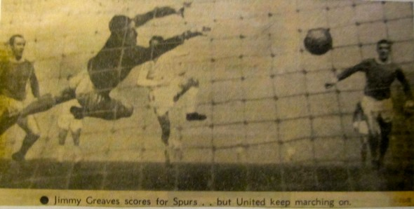Jimmy Greaves' goal at OT in ECWC [Photo: Logan Holmes]