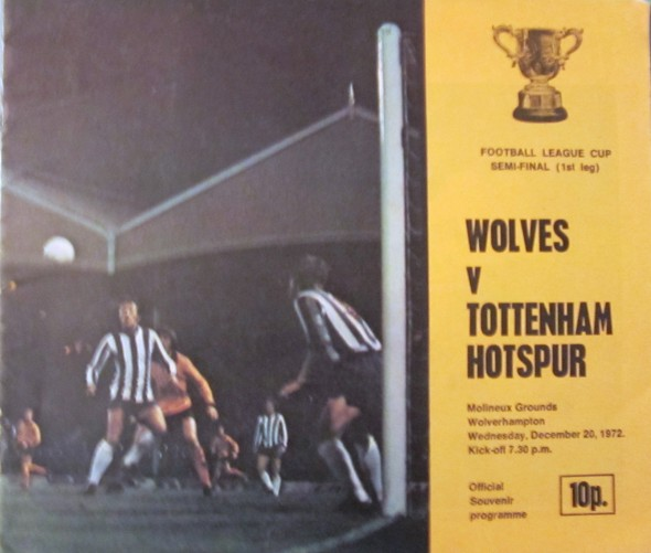 Wolves v Spurs LC s/f 1972 [Photo: Logan Holmes]