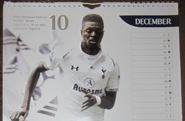 Spurs Calendar [Photo: Logan Holmes]