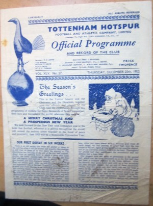 Programme for the Christmas Day match at WHL [Photo: Logan Holmes]