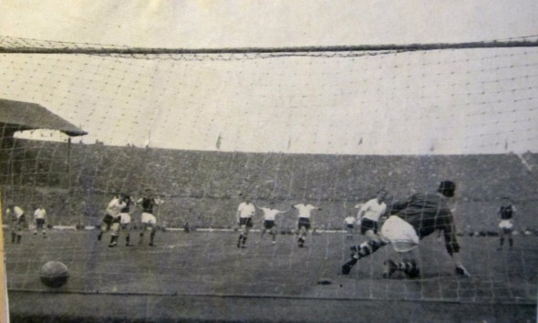 That Penalty - Blanchflower In 1962 FA Cup Final - my earliest memory. [Photo: Logan Holmes]