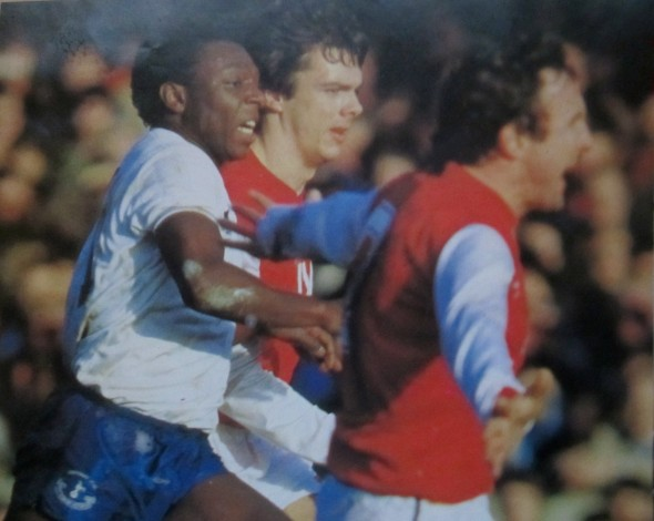 Garth Crooks at Highbury in 1980s [Photo: Logan Holmes]