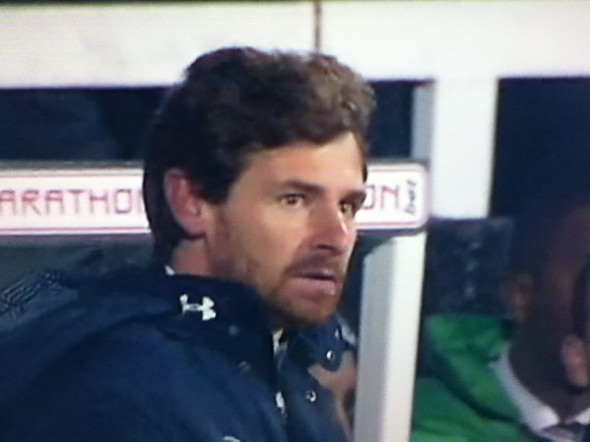Andre Villas-Boas - a man who has just escaped a firing squad? [Photo: Alan Hill]