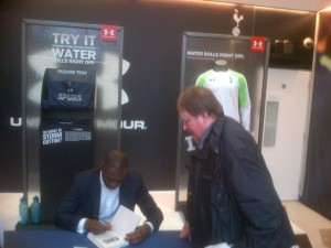 Meeting Ledley King [Photo: Alan Hill]