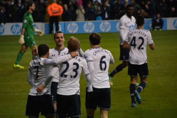 Celebrations after Eriksen's goal [Photo: Jav The_DoC_66]
