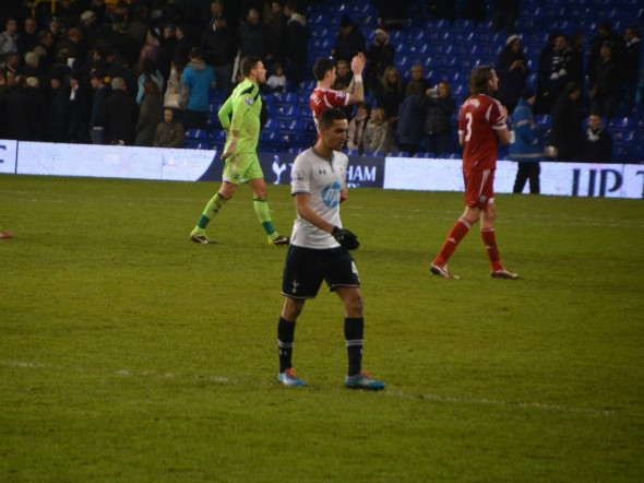 Bentaleb after his home debut against WBA [Photo: Jav The_Doc_66]