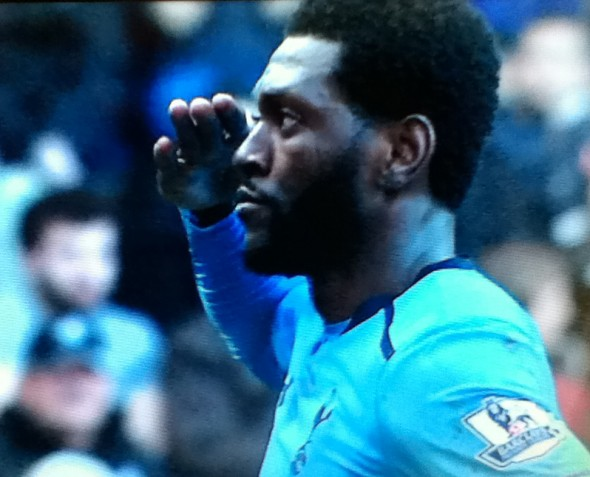 Emmanuel Adebayor [Photo: Alan Hill]