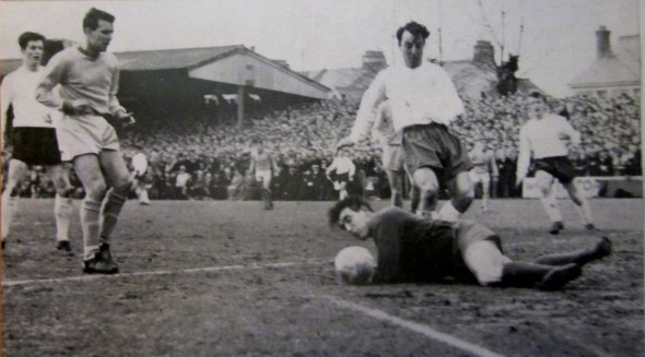 Jimmy Greaves is stopped in the first game in Torquay [Photo: Logan Holmes]