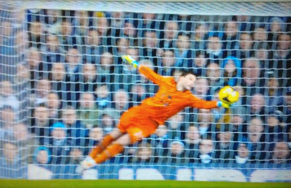 Save by Hugo Lloris [Photo: Alan Hill]