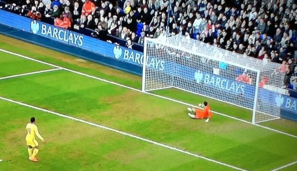 The missed penalty [Photo: Alan Hill]