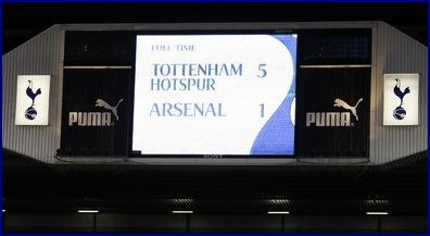 Tottenham 5 Arsenal 1