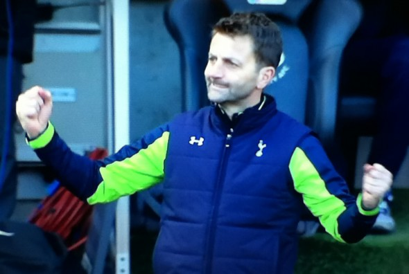 A delighted Tim Sherwood [Photo: Alan Hill]