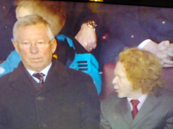 SAF's face was Simply Red [Photo: Alan Hill]