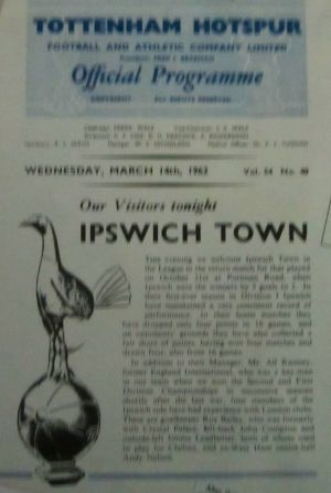 1962 Spurs v Ipswich [Photo: Logan Holmes]