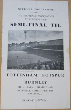 1961 FA Cup semi-final Spurs v Burnley [Photo: Logan Holmes]