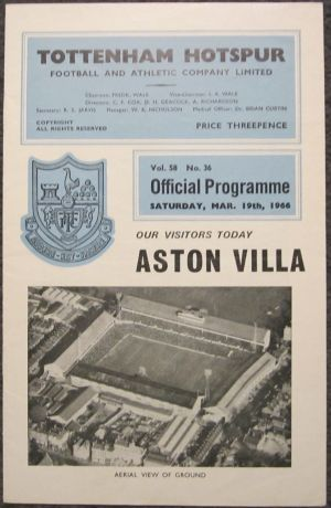 1966 Spurs v Villa [Photo: Logan Holmes]