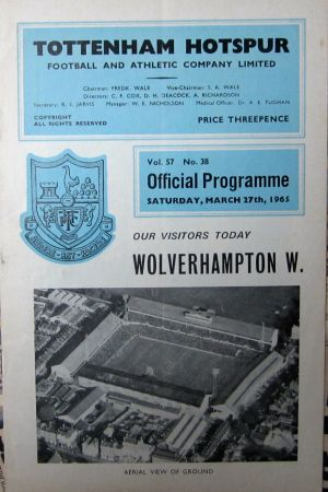 Spurs v Wolves (March 1965) [Photo: Logan Holmes]