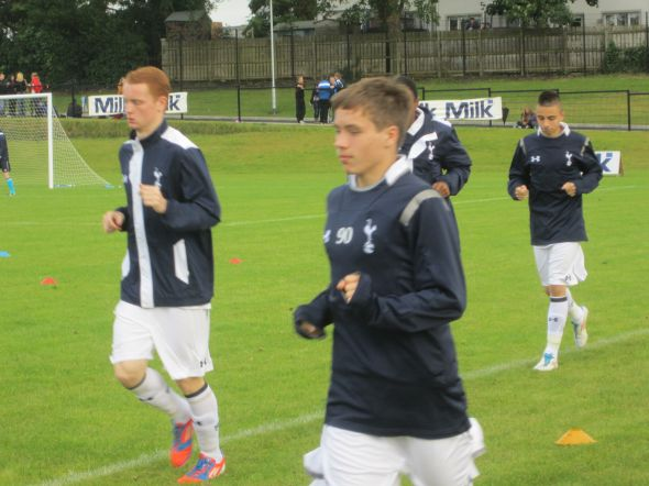 Connor Ogilvie (left) (and possibly Harry Winks?) at 2012 NI Milk Cup [Photo Logan Holmes]