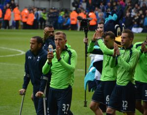 Andros Townsend on crutches [Photo: Jav The_DoC_66]