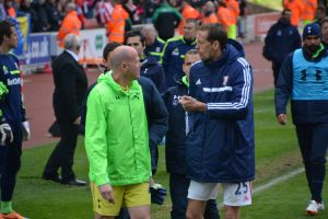 Peter Crouch with Brad Friedel [Photo: Jav The_DoC_66]
