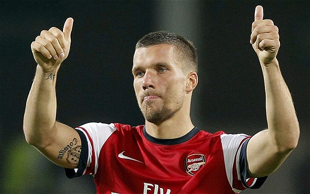 Lukas Podolski has to ...