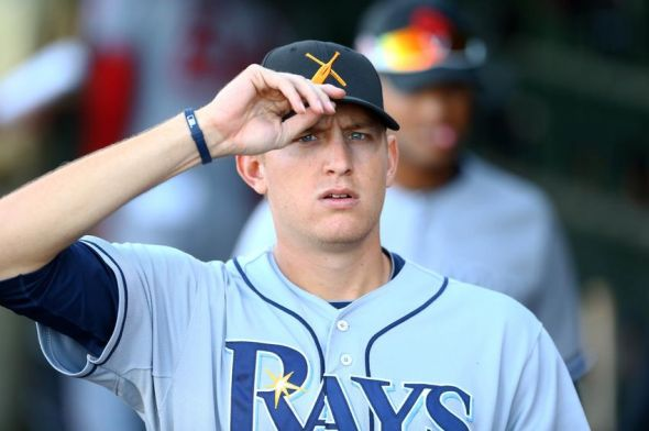 Nov 2, 2013; Surprise, AZ, USA; Tampa Bay Rays pitcher Mike Montgomery against the West during the Fall Stars Game at Surprise Stadium. Mandatory Credit: Mark J. Rebilas-USA TODAY Sports