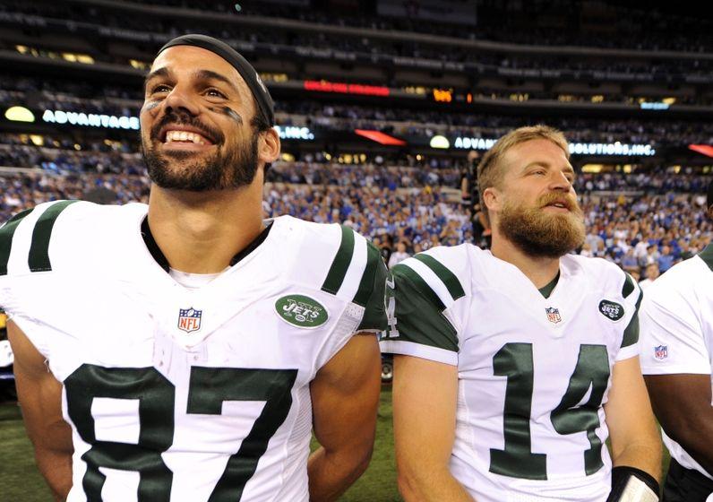 Men's New York Jets Eric Decker #87 Green Color Rush Elite Jersey