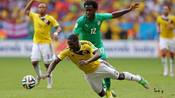 Wilfried Bony (in green) has replaced Didier Droga as first choice striker, but will he punish Greece?