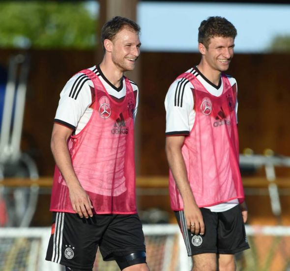 Thomas Muller (right) was the Golden Boot winner in 2010. With Low seemingly set to experiment in Brazil, he could have another deadly tournament.