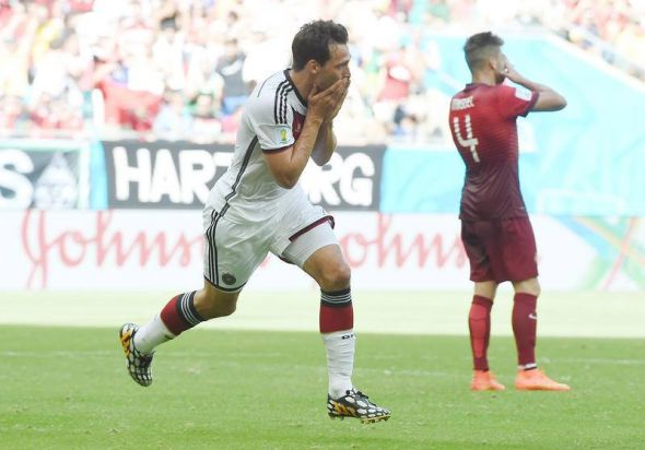 Mats Hummels celebrating his brilliant header - Germany were up 2-0