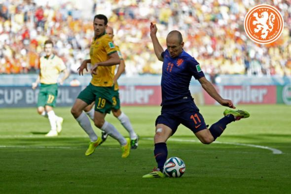 Arjen Robben opened the scoring for the Netherlands, but it would not stand for longer than seventy seconds