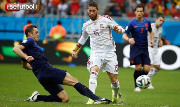 Real Madrid's Sergio Ramos should be the only defender to retain his place in the Spain XI