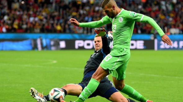 Islam Slimani so nearly put Algeria 1-0 up early on, if it wasn't for the brilliant Manuel Neuer, who would come off his line so many times during the match in daring fashion.
