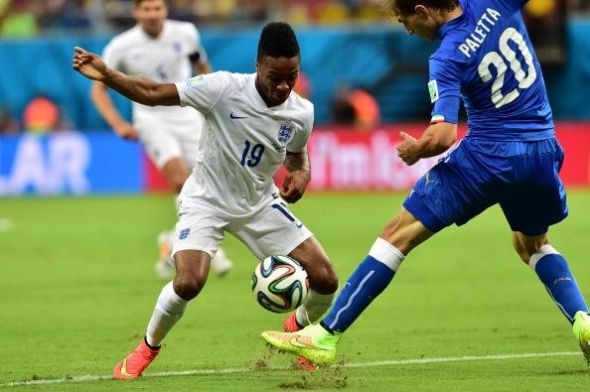 Raheem Sterling (on the ball) will look to be as influential and direct against Uruguay as he was against Italy.