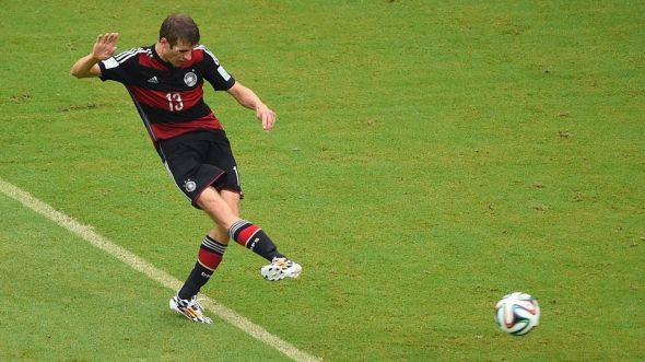 Thomas Muller has 9 goals in his first two World Cups for Germany. Will he get on the scoresheet again today to reach double-digits at just the age of 24?