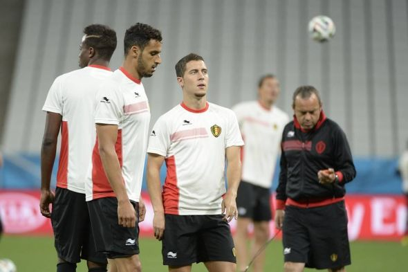 Eden Hazard (center) has yet to fully impress for Belgium this summer - it's only a matter of time now