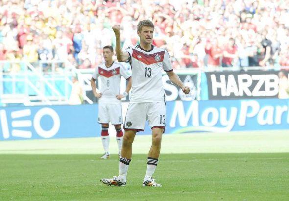 Thomas Muller already has 8 goals in just seven World Cup matches - he's odds on to give Ghana real problems