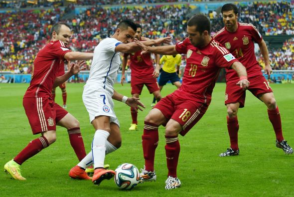 Alexis Sanchez (white) had a brilliant World Cup, prompting serious interest from both Liverpool and Arsenal.
