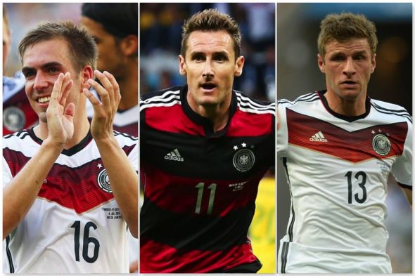 German trio Phillip Lahm, Miroslav Klose and Thomas Muller are just three pieces to the bigger eleven piece puzzle that make Germany the best team in the World.