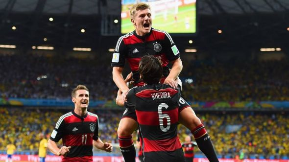 The familiar site of German's celebrating will, for me, be the result come the end of 90 minutes at the Estadio do Maracana