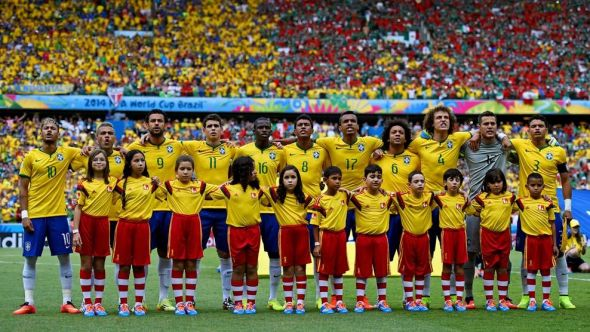 Brazil's passionate singing of their national anthem has not always translated to their performance - they've been good, but could be so much better.